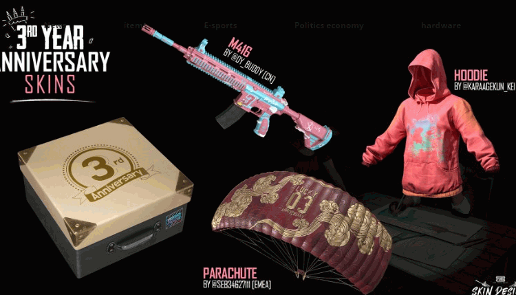 PUBG Mobile 3rd Anniversary how you get the birthday skins
