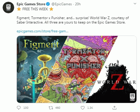 Epic games is free giving away World War Z and two other games 1