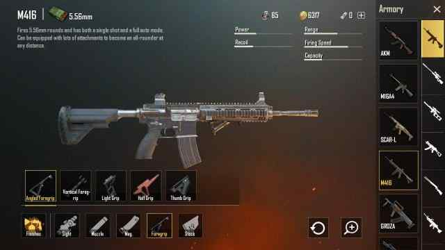 How to use weapon grips? In PUBG Mobile