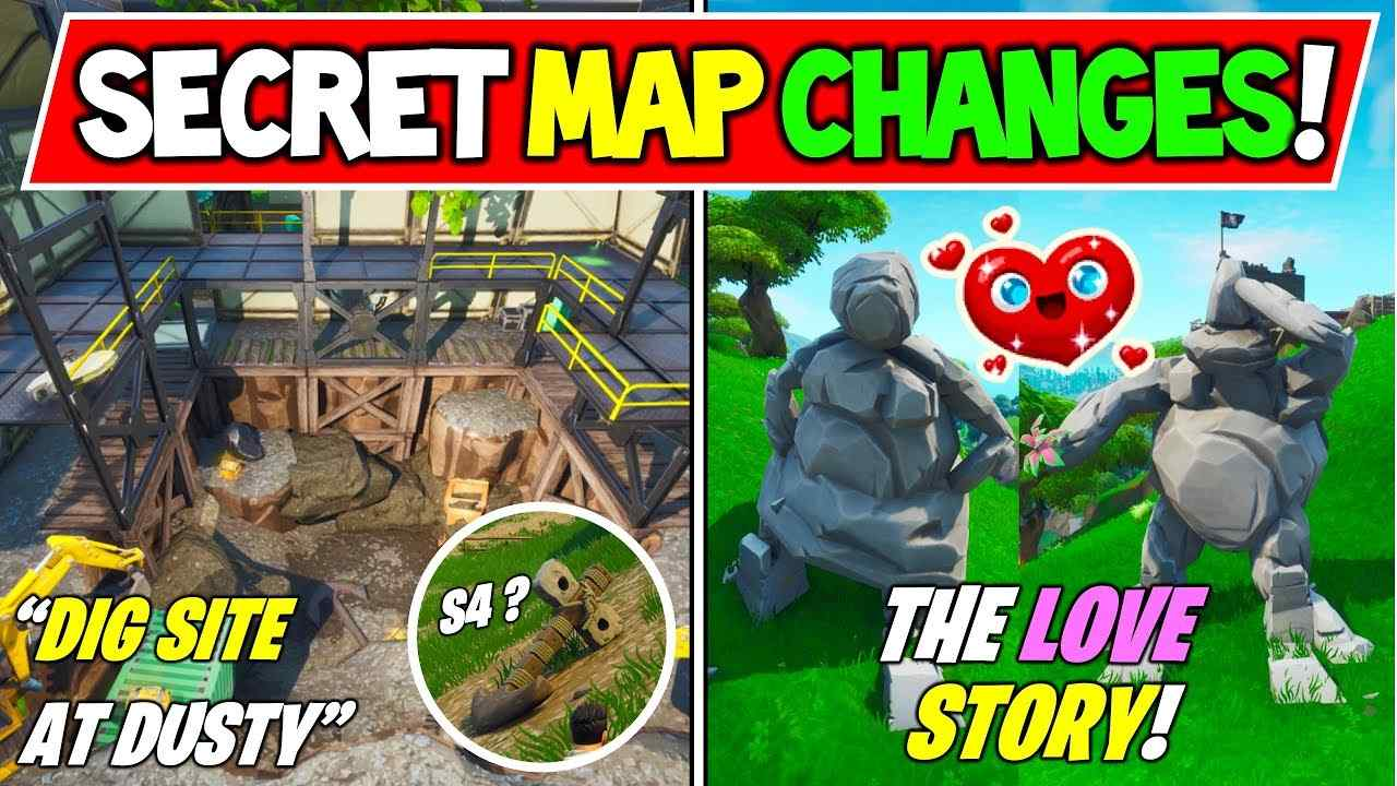 Fortnite – Secret Map Changes Season 4 Update 14.50